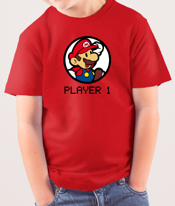 T-shirt Mario player one