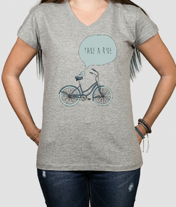 Camiseta bicicleta take a ride