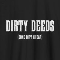 Camiseta música Dirty deeds