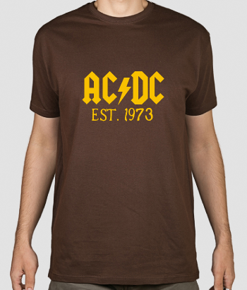 T shirt musica ACDC 1973
