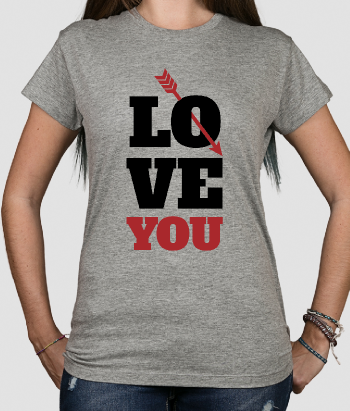 T-shirt scritta love you