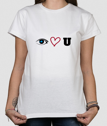 Camiseta divertida Eye Love U