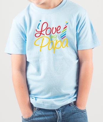 T-shirt enfant I love papa
