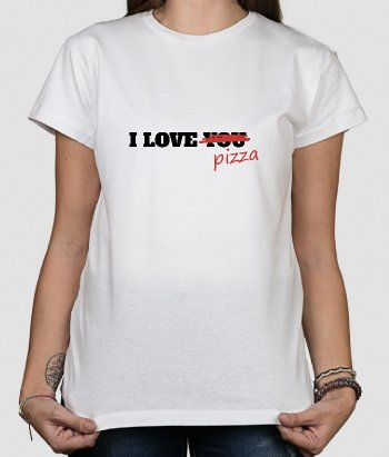 T-shirt rigolo I love you pizza