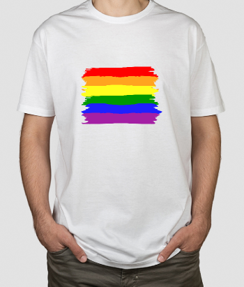 Camiseta bandera orgullo gay pincel