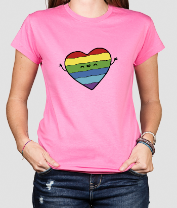 Gay Pride Heart T-Shirt