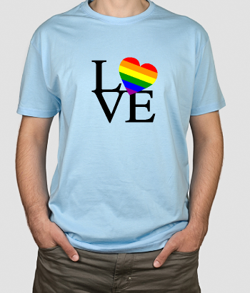 T-shirt original coeur Love Gay