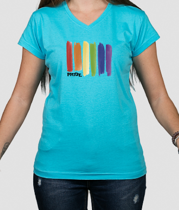 T-Shirt Pride Aquarell