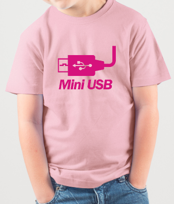 Camiseta conector mini USB