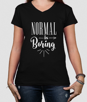 T shirt con scritta Normal is Borign