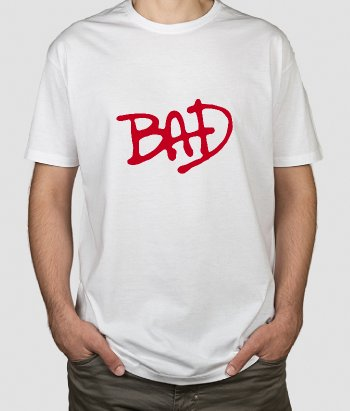 Camiseta Michael Jackson Bad