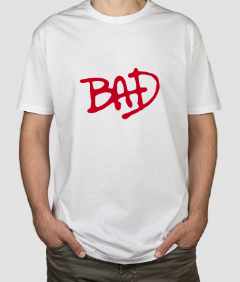 T-shirt musica Michael Jackson Bad