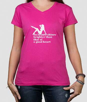 Camiseta con mensaje Beauty shines