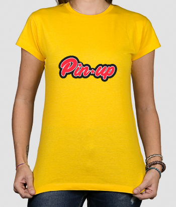 T-shirt lettering Pinup