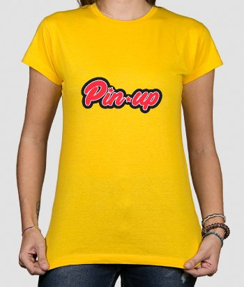T-shirt retro Lettering Pinup