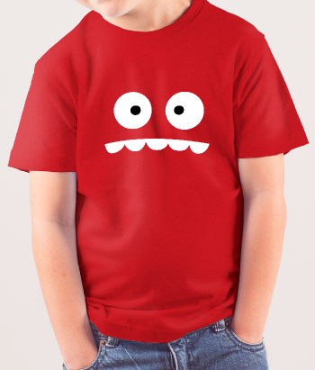 T-Shirt lustiges Monstergesicht