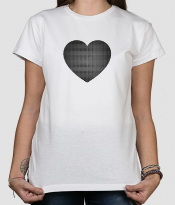 T-shirt metalen hart