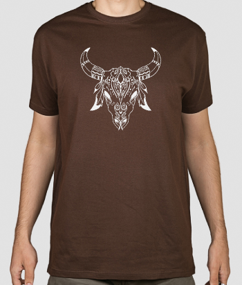 Tribal Cow Skull T-Shirt