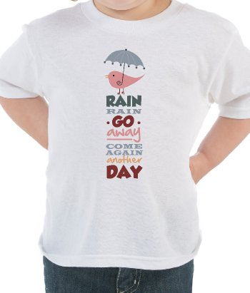 Kinder T-Shirt rain rain go away