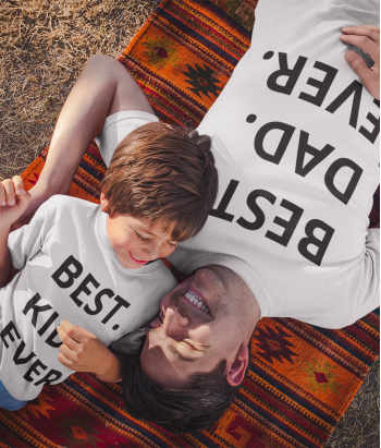 Camisetas padre e hijo best dad