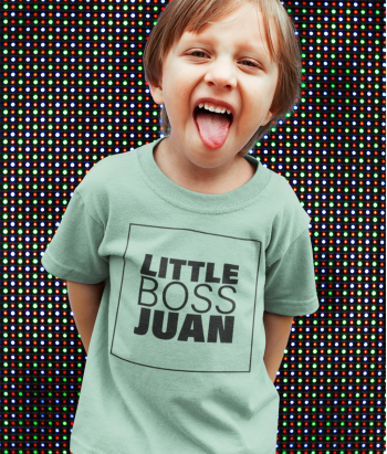 Camiseta Little Boss con nombre
