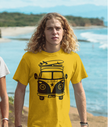 T-shirt Hippiebusje Go Surfing