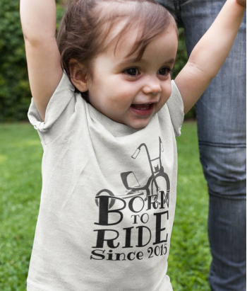 Camiseta Infantil Born to Ride