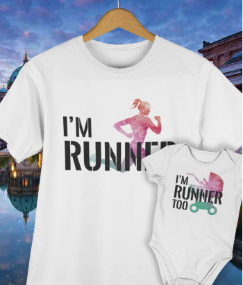 Camiseta y body a juego runners