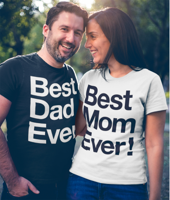 T-shirt di coppia best dad best mom