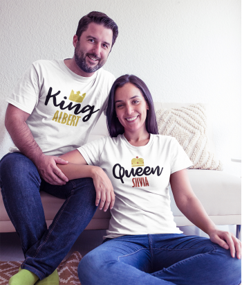 Camiseta king and queen personalizable
