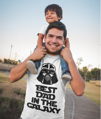Best Dad in the Galaxy Funny T-Shirt