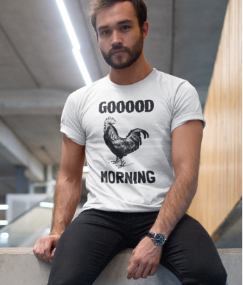 Camiseta Exclusiva con mensaje Good Morning