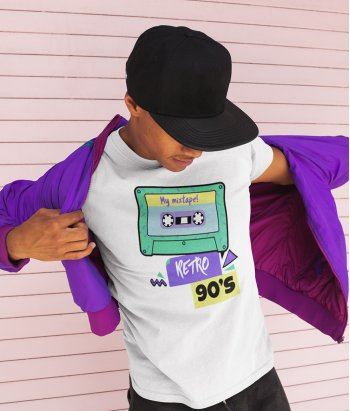 Camiseta original cassette retro 90
