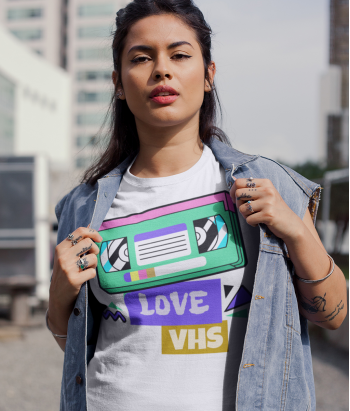 Camiseta original love vhs