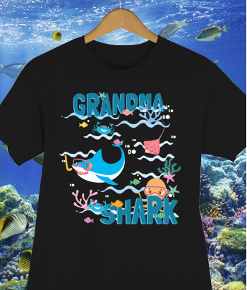 Camiseta Grandma Shark