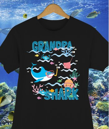 Camiseta Grandpa Shark