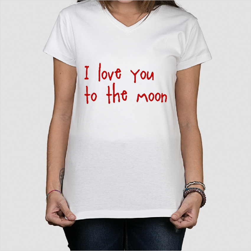 p rchen t shirt love you to the moon dezuu. Black Bedroom Furniture Sets. Home Design Ideas